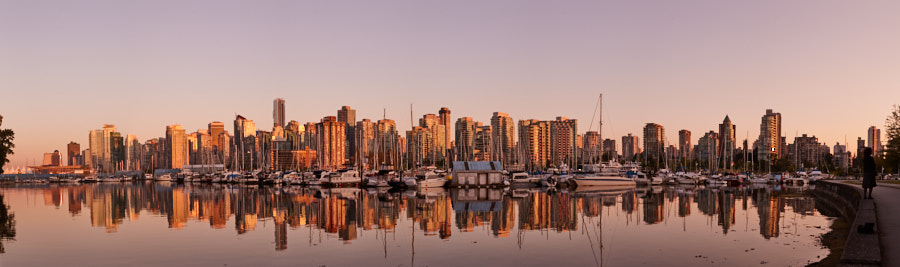 Sunset in Coal Harbour, Vancouver, BC