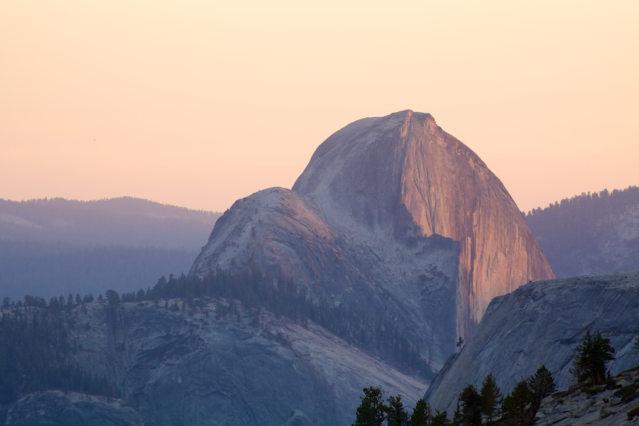 View of Half Dome, Yosemite National Park from Olmsted Point
