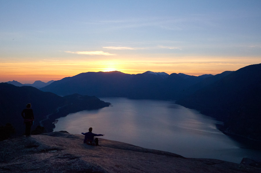 Sunset from the Chief, Squamish, BC