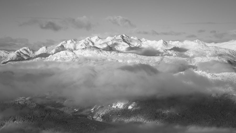 Peaks of Pemberton Icefield from Blackcomb Mountain, Whistler, BC