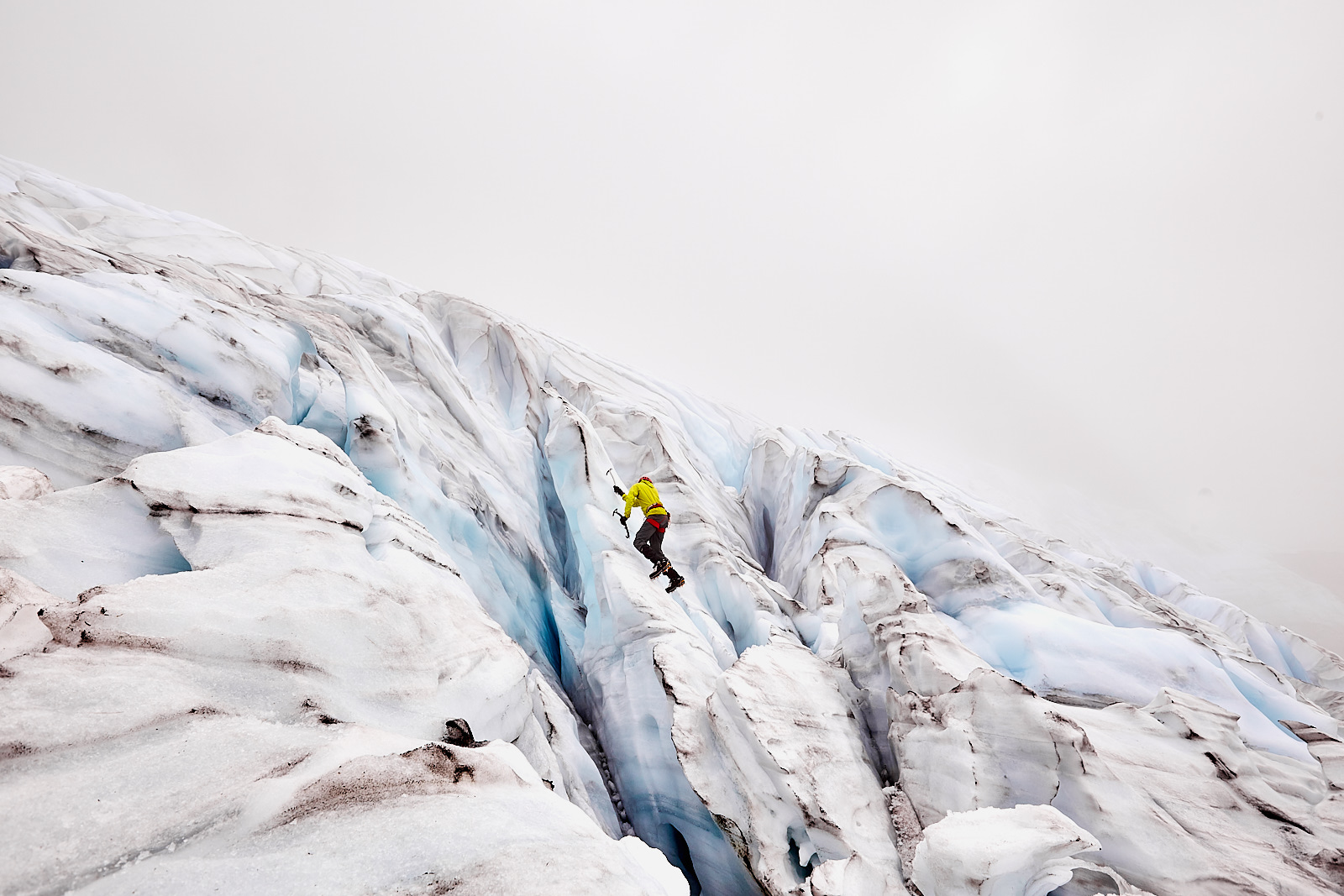 Climbing on the glacier