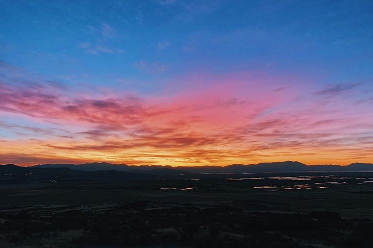 Sunrise over Salt Lake, UT